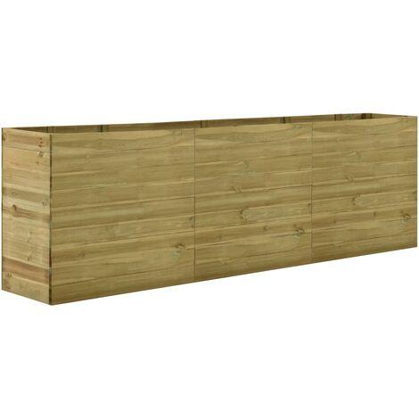 Jardinera de madera de pino impregnada 300x50x97 cm