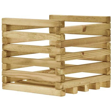 Jardinera de madera de pino impregnada 40x40x35 cm