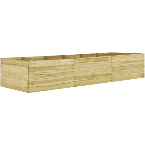 Jardinera de madera de pino impregnada 450x100x54 cm