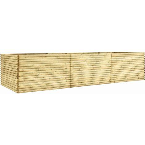 Jardinera de madera de pino impregnada 450x150x96 cm