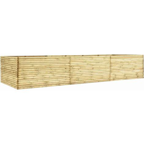 Jardinera de madera de pino impregnada 450x50x96 cm
