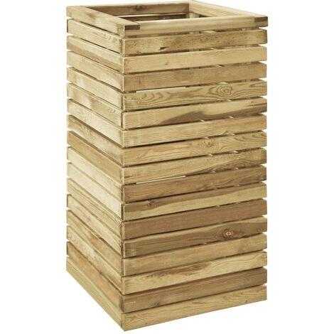 Jardinera de madera de pino impregnada 50x50x100 cm