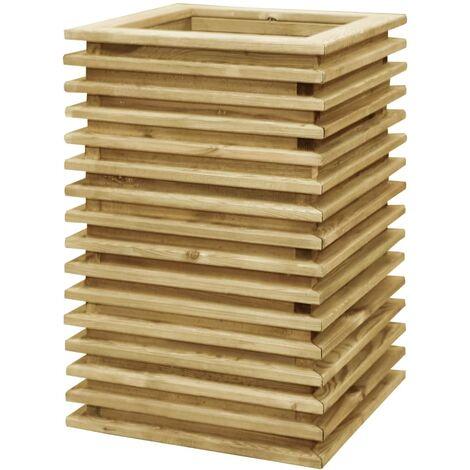 Jardinera de madera de pino impregnada 50x50x80 cm