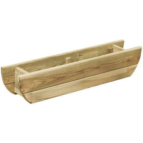 Jardinera de madera de pino impregnada 80x16x16 cm