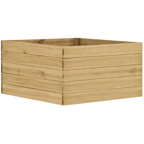 Jardinera de madera de pino impregnada FSC 100x100x54 cm