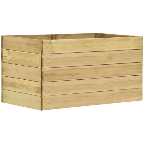 Jardinera de madera de pino impregnada FSC 100x50x54 cm