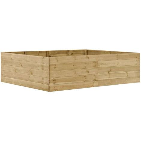 Jardinera de madera de pino impregnada FSC 200x150x54 cm