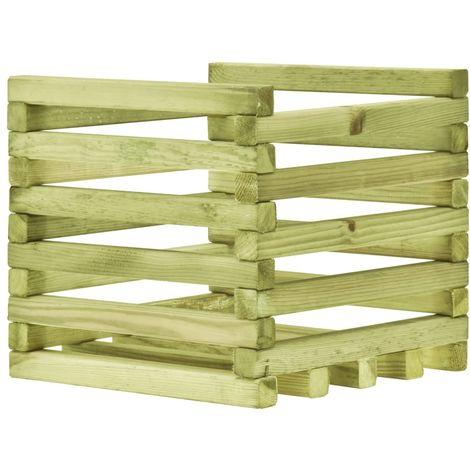 Jardinera de madera de pino impregnada FSC 40x40x35 cm