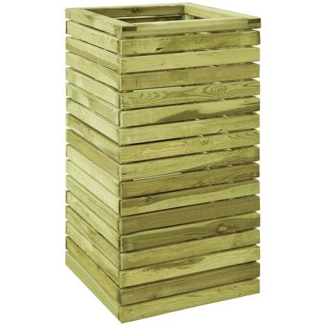 Jardinera de madera de pino impregnada FSC 50x50x100 cm