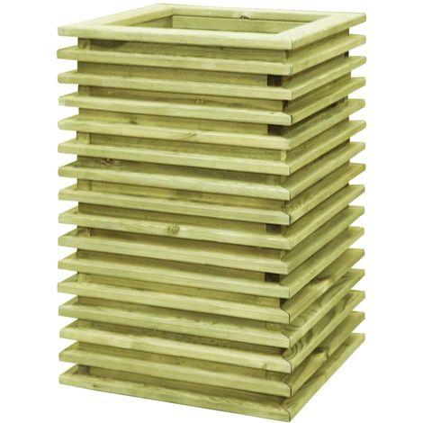 Jardinera de madera de pino impregnada FSC 50x50x80 cm