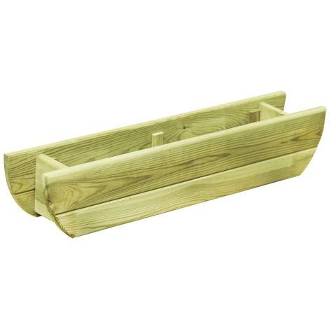 Jardinera de madera de pino impregnada FSC 80x16x16 cm