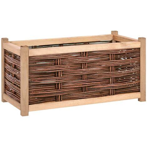 Jardinera de madera de pino maciza 80x40x40 cm