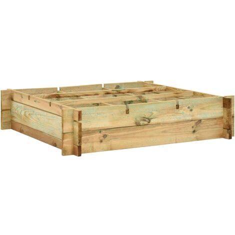 Jardinera de madera impregnada 90x90x20 cm