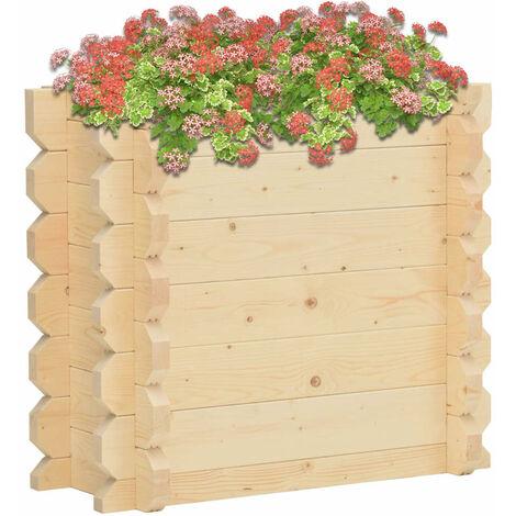 Jardinera de madera maciza de abeto 100x50x87,8 cm 42 mm