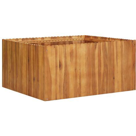 Jardinera de madera maciza de acacia 100x100x50 cm