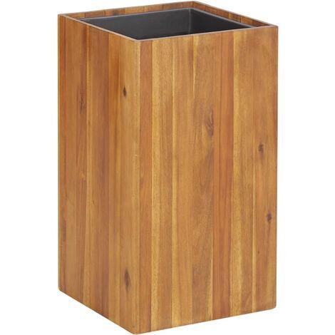 Jardinera de madera maciza de acacia 33,5x33,5x60 cm