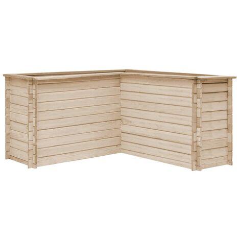 Jardinera de madera maciza de pino 150x150x80 cm