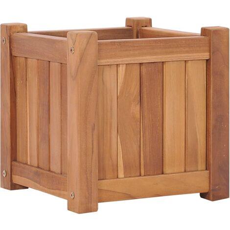 Jardinera de madera maciza de teca 30x30x30 cm