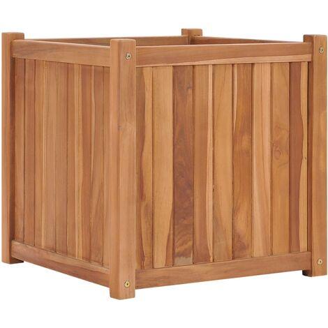 Jardinera de madera maciza de teca 50x50x50 cm