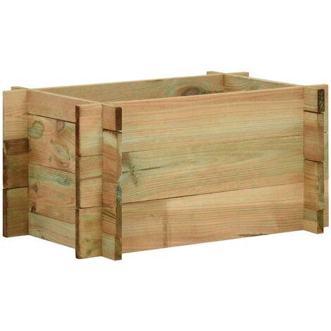Jardinera de verduras madera pino impregnada 40 cm