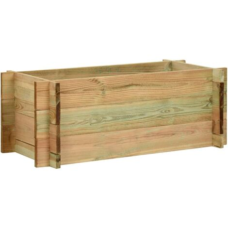 Jardinera de verduras madera pino impregnada 80 cm