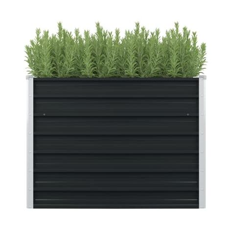 Jardinera elevada acero galvanizado gris antracita 100x100x77cm