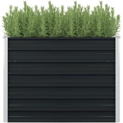 Jardinera elevada acero galvanizado gris antracita 100x100x77cm - Antracita