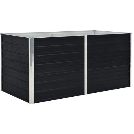 Jardinera elevada acero galvanizado gris antracita 160x80x45 cm - Antracita