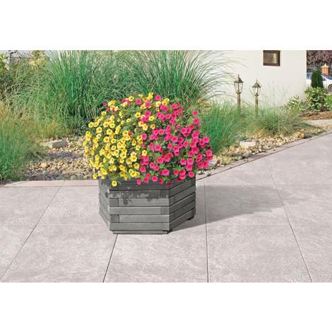 Jardinera Hexagonal Gray 60X35 Cm - - 61013