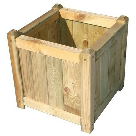 Jardinera madera papillon 40x40 cm.