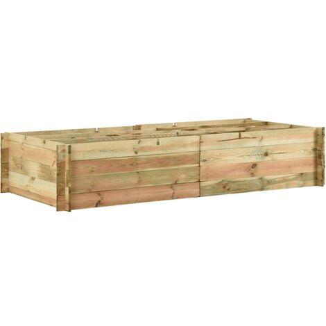 Jardinera para verduras madera pino impregnada 197x100x40cm