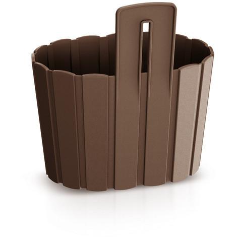 Jardinera Pared B.Wall Chocola 19X15X20CM - INTEPLAS - DDES200CH