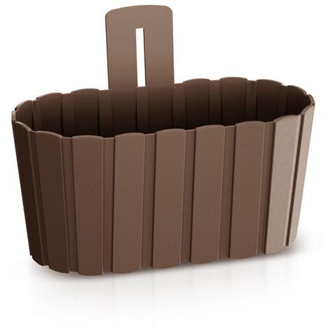 Jardinera Pared B.Wall Chocola 27X15X20CM - INTEPLAS - DDES280CH