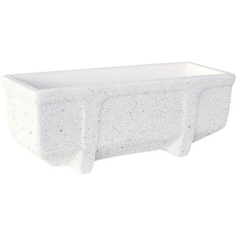 Jardinera hormigón-piedra Romero 100x30x30cm. blanco