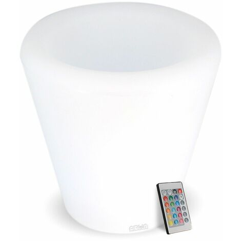 Jardinera recargable con luz LED 27 cm
