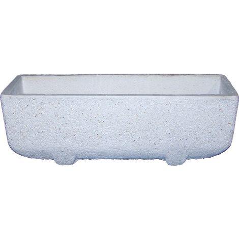 Jardinera Recta hormigón-piedra lavada exterior 60x32x30cm.
