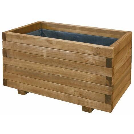 Jardinera rectangular 80x35x40cm madera certificada FSC Nortene GAIA