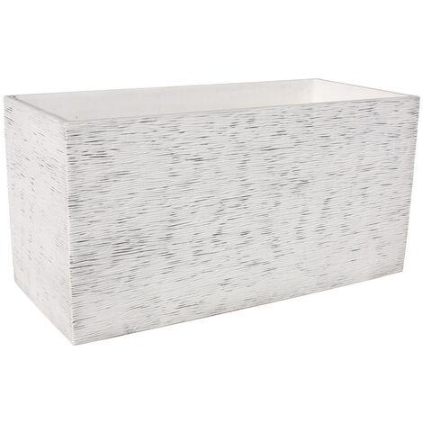 Jardinera rectangular Pacífico 80x17x19cm. hormigón aligerado color natural gris