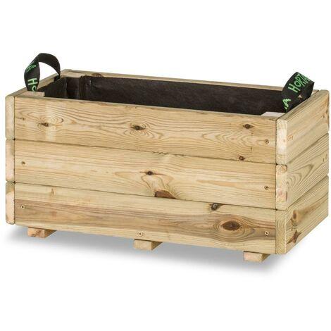 Jardinera rectangular Ghio Hortalia 56 Litros - 70 x 30 x 40 cm