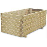 Jardinera rectangular madera FSC 100x50x40 cm