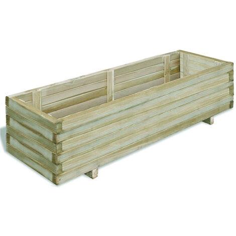 Jardinera rectangular madera FSC 120x40x30 cm
