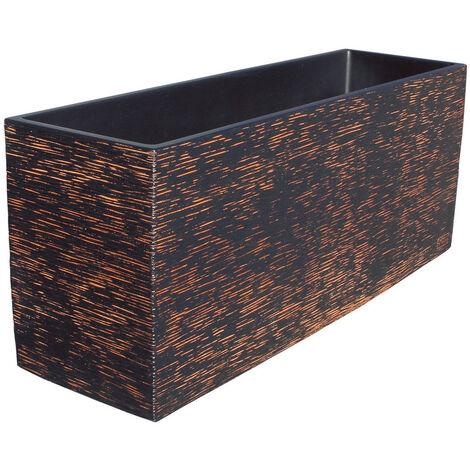 JARDINERA RECTANGULAR PACÍFICO 60x17x19cm. Disponible en diferentes colores.