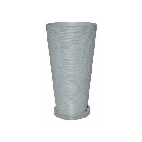 JARDINERA REDONDA ALBORAN 40x71cm. + plato Disponible en diferentes colores.