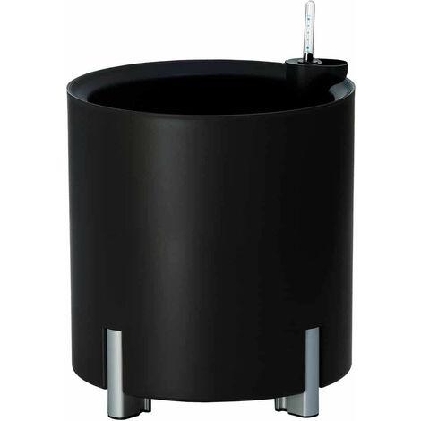 Jardinera redonda autorriego negra | MONDUM Mediterráneo - 50151011541931