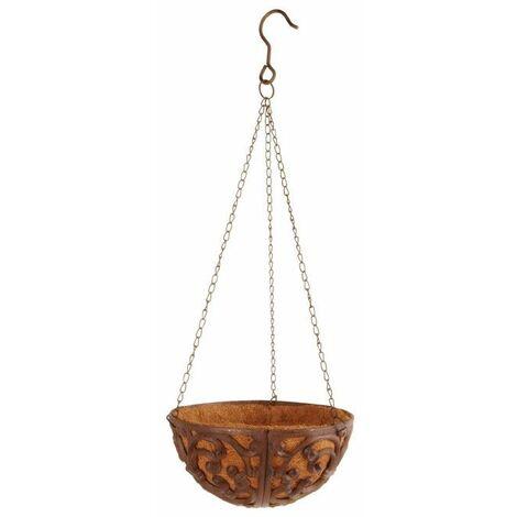 Jardinère suspendue - Fonte - Panier de suspension avec chaines