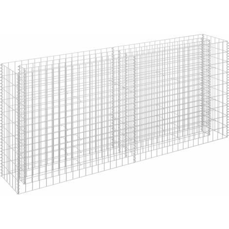 Jardinière à gabion Acier galvanisé 180x30x90 cm