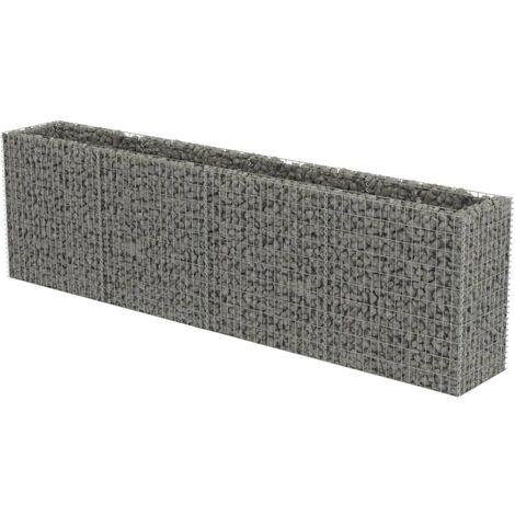 Jardinière à gabion Acier galvanisé 360 x 50 x 100 cm