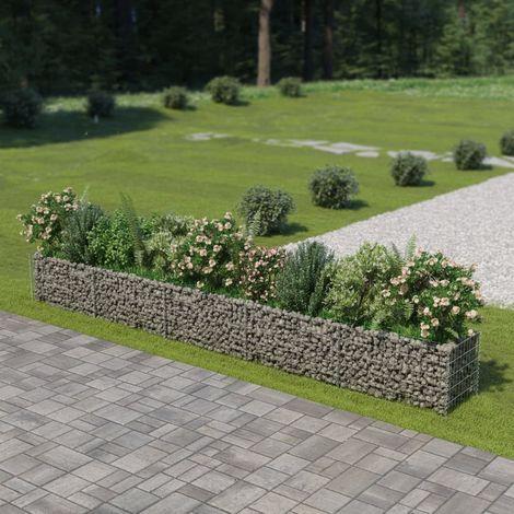 Jardiniere a gabion Acier galvanise 450 x 50 x 50 cm