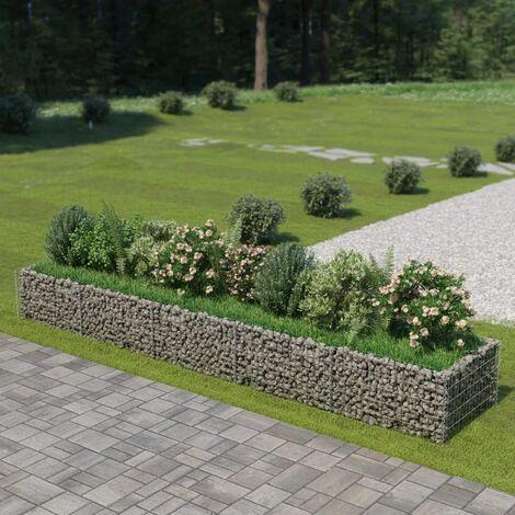 Jardinière à gabion Acier galvanisé 450 x 90 x 50 cm