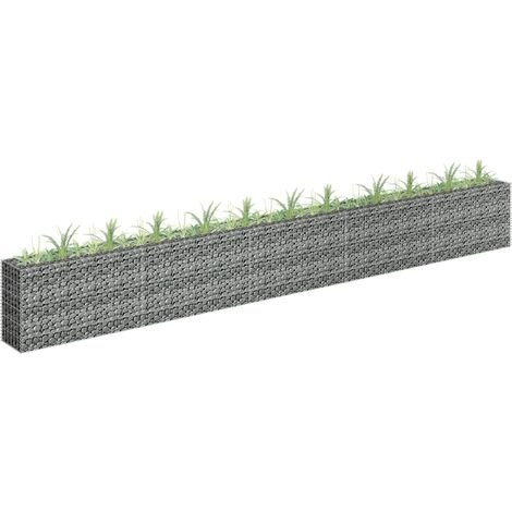 Jardinière à gabion Acier galvanisé 450x30x60 cm